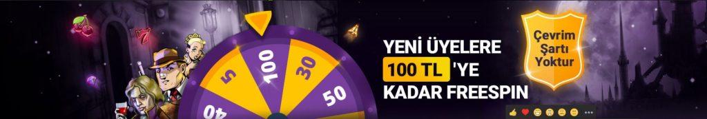 Discount Casino 100 TL Freespin